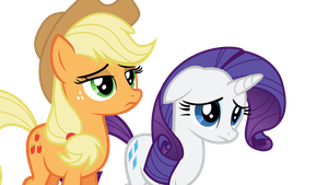 Emotional Applejack and Rarity by ThePoneSenpai