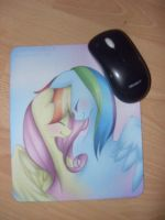 My new Flutterdash Mousepad by Pony4444