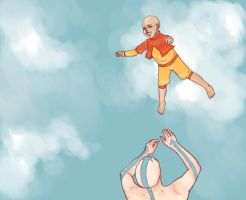Aang and Tenzin by Soaringfish