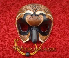 Galapagos Short-Eared Owl Mask by merimask