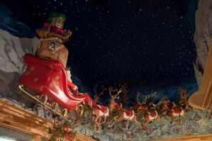 Santa Claus with Reindeer 1 by FairieGoodMother