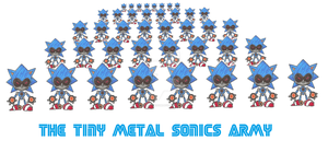 The Tiny Metal Sonics Army by funkyjeremi