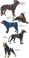 Houndoom/Houndour characters by Iron-Zing