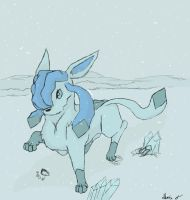 Contest Prize: Glaceon by Ikari-Fang