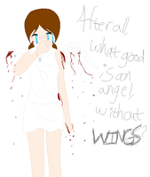 An angel without wings by choco-kye