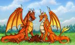 Lasair and Kindles Feast by DragonCid