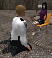 Reporter Cuffed Hand and Foot by EnglishDamsel