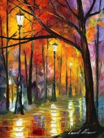 BLUES OF NIGHT - L. AFREMOV by Leonidafremov
