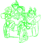 Merry X-mas Autobuddies WIP by G1-Dinobot-Swoop