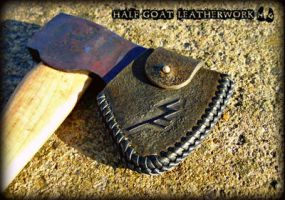 Runic Axe Sheath by Half-Goat