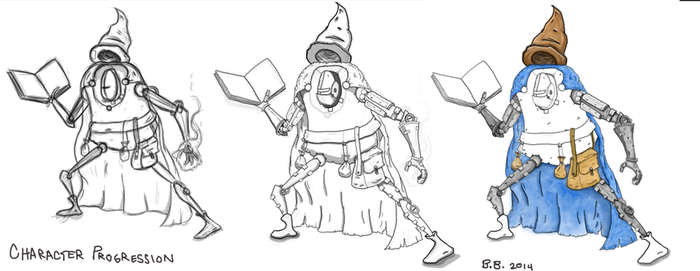 Further Progression on Mech Wizard by MasterBellick