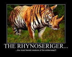Rhynoseriger Demotivational by NeonVictorian
