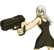 Some Chick With A Gun by PhiTuS