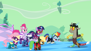 [Collab] The Power Fillies vs. Little Discord by imageconstructor
