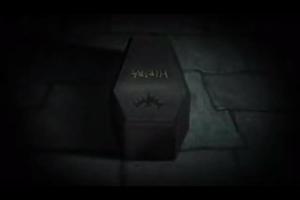 hirpia's coffin at night by Sarahthekiller17