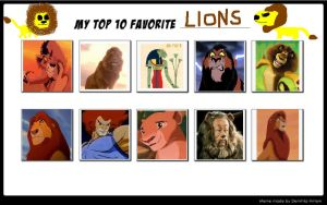 My Top 10 Favorite Lions by SithVampireMaster27