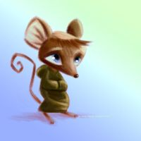 Monk Mouse by juanbauty