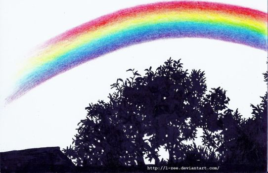 'big gay rainbow across (my) electorate' by l-zee
