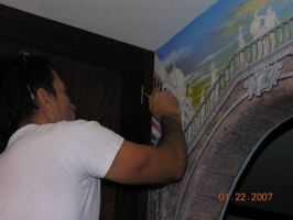 Me painting by MuralsbyLeBold