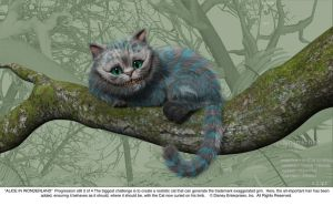 Cheshire Cat Progression Art 3 by AliceInWonderland