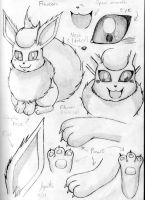 Flareon Sketches 1 by Flareon-Jupiter