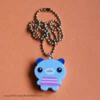 Eraser Bear Necklace by Keito-San