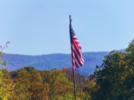 Old Glory And The Blue Ridge by jim88bro