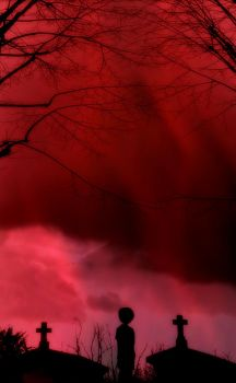 Obscurity In Red by EveCrucifiX