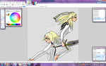 Chloey and Hysteria WIP 4 by TheSilentChloey