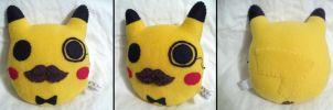 Round Gentleman Pikachu Plush by P-isfor-Plushes