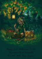 :Halloween Link eating Pocky: by Wictorian-Art