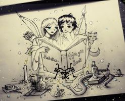 Magic book by natalico