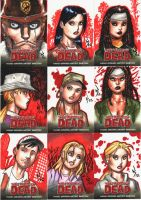 Walking Dead Sketchcards.01 by RyanKinnaird