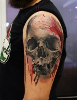 Skull tattoo by grimmy3d