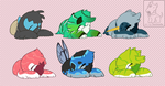 20150405 sleepy babies [personal/gifts] by DesmodiaDesigns