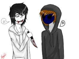 .:Art-Trade:. Jeff y Eyeless Jack by FernandaEvanson