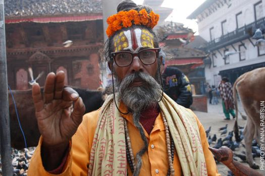 Old man from Durbar Square by obscurity-n