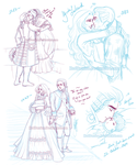 LO - RodT - EmilyxLouisXVI. Sketches I by RedPassion