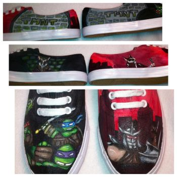 TMNT custom painted shoes by BarbaricCreations