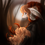 The Witch of the Barren Trees by drawitout