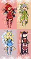 Poker Card Queens Set.- CLOSED by Aka-Yuuki