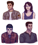 some teen wolf busts by ggns