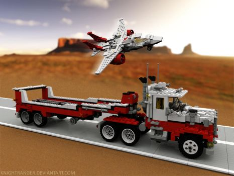Lego 05591 Red Bird Truck, Trailer, and Jet by KnightRanger