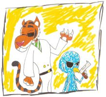 Father Stripes and shocktapus by BlackHat0061