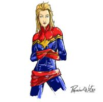 Capitan Marvel by PaperbackWriter-mimi