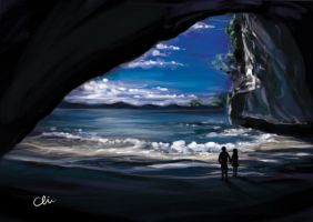 Cathedral Cove Coromandel by BlackMonkey-Chi