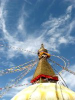 Nepal-Boudhanath dragon cloud. by lonelydragonswish