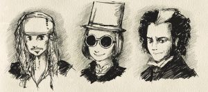 Johnny Depp- Quick Sketches by reubelyn