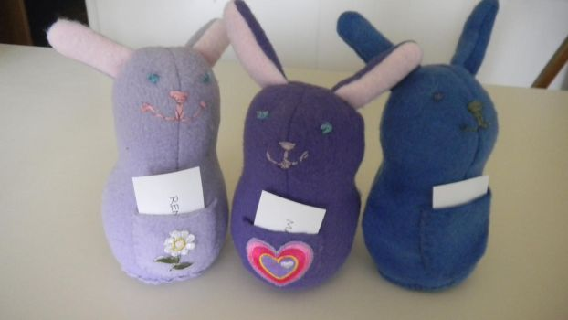 Bunny Plushies - Squad 1 by PinkOctopus13