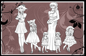Mother and Daughters by Venetia-TH
